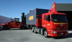 Bascik truck loaded with container