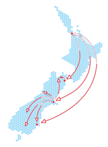 New Zealand freight services including Auckland to